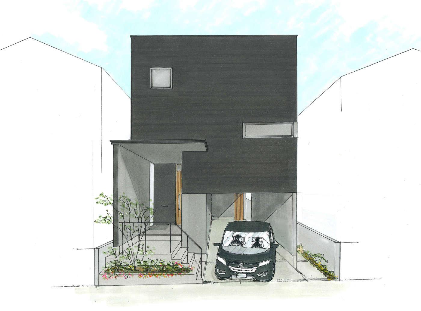 【新築完成見学会】スキップフロアのコンパクト住宅